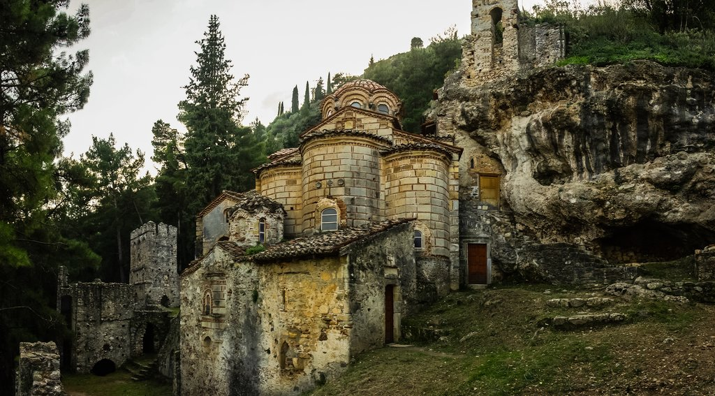 The ruins of Mystras