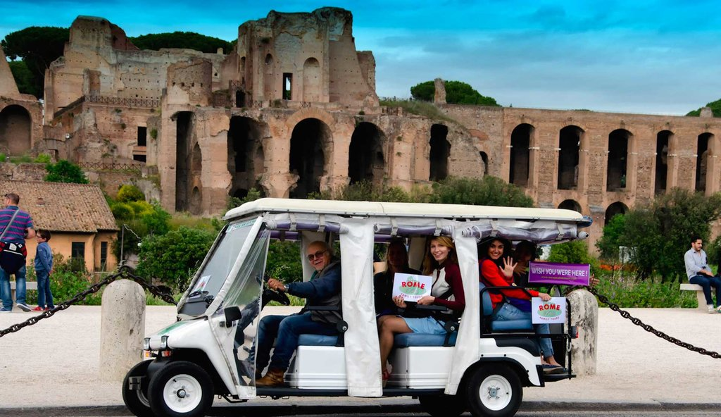 See Rome by golf cart
