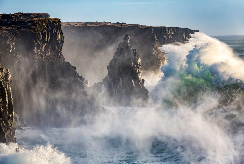 Stormy waves along Iceland's West Coast