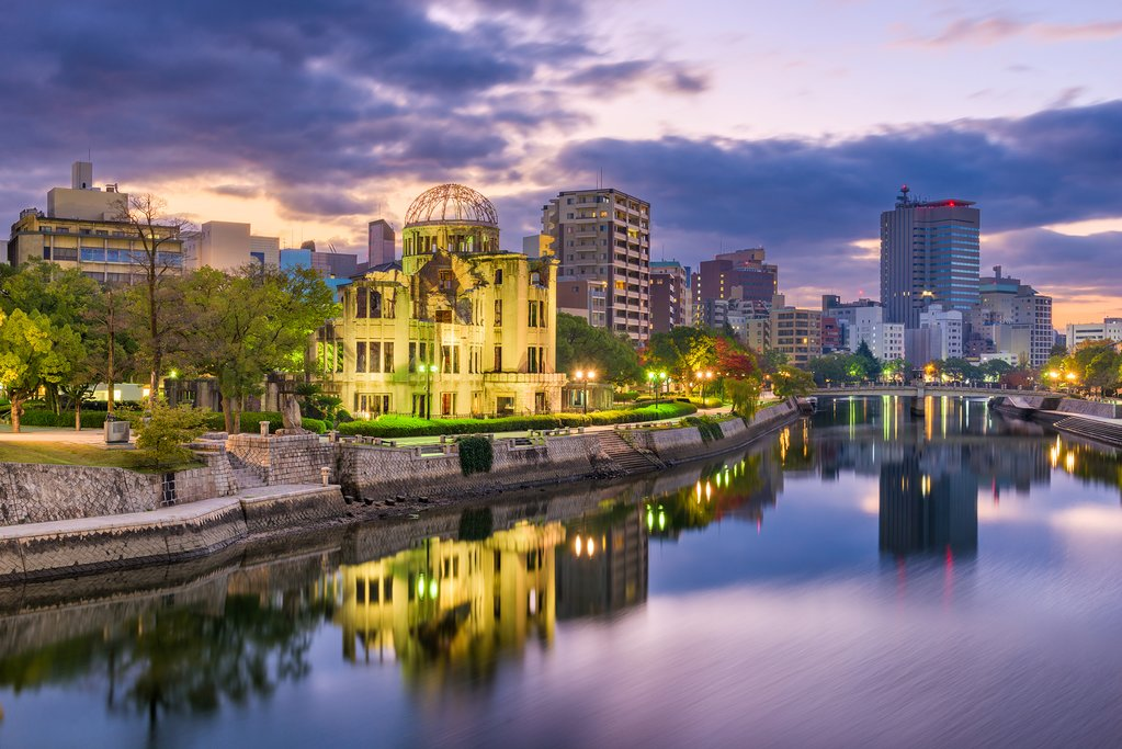 Hiroshima at Sunset
