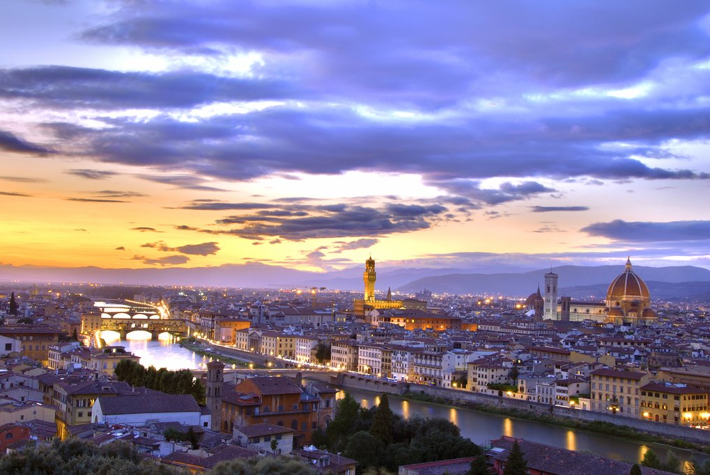Sunset over Florence.