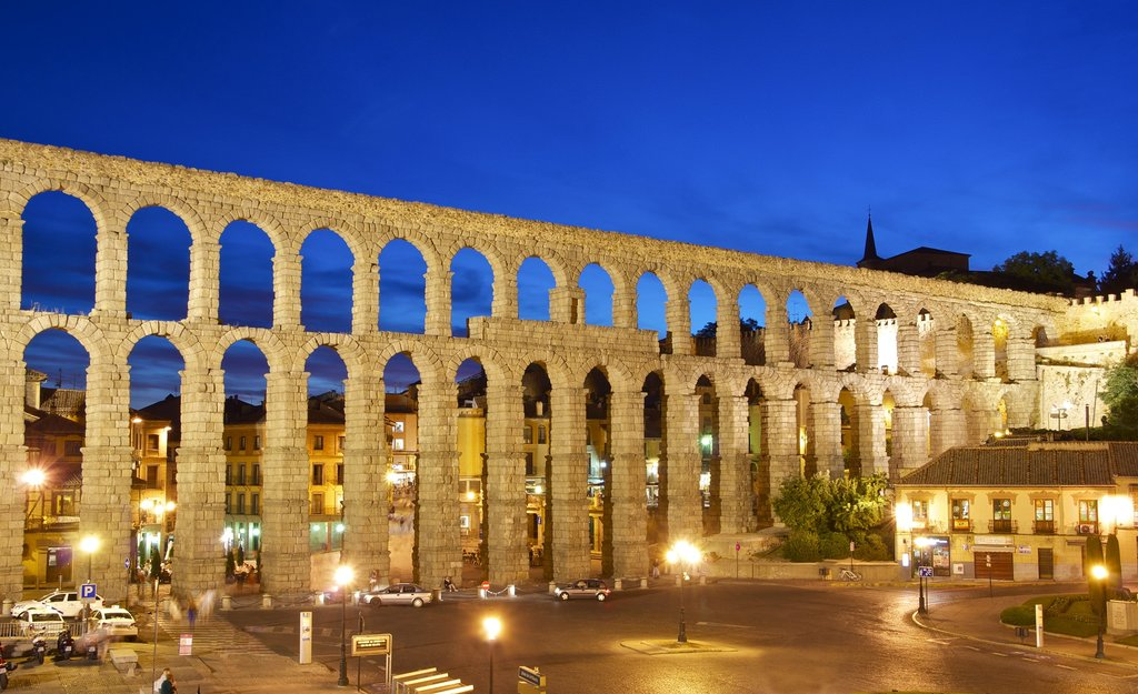The impressive Roman Aqueduct of Segovia