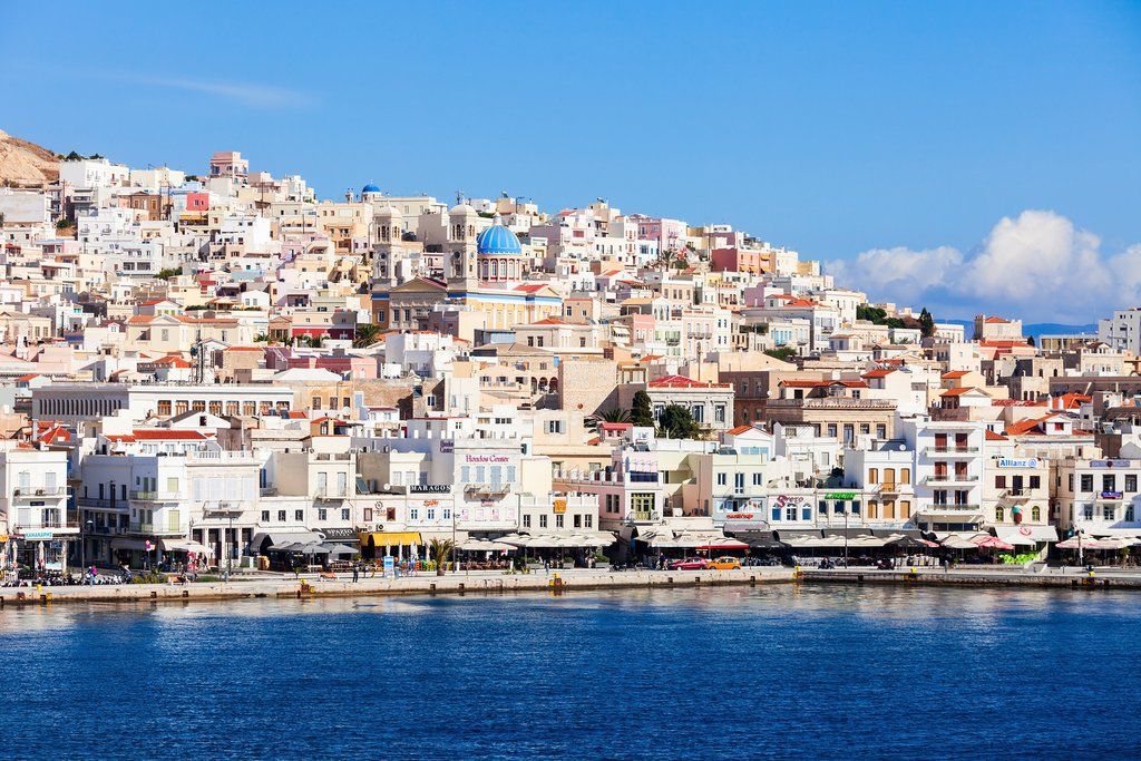 Syros port of Ermoupoli