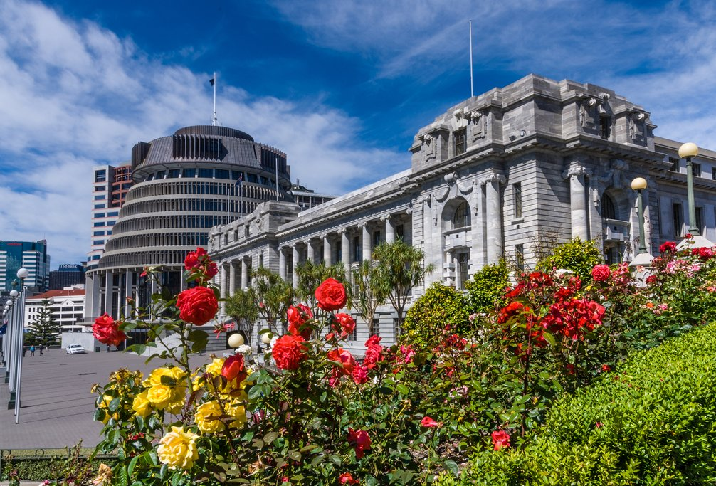 The Parliament buildings in Wellington