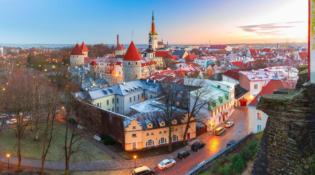 Tallinn At Sunset