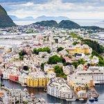 Enjoy the views of Ålesund from Mount Saksa