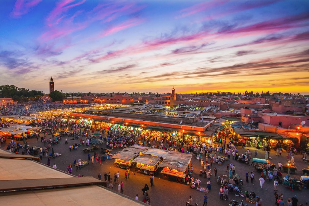 Jemaa El-Fna  at sunset