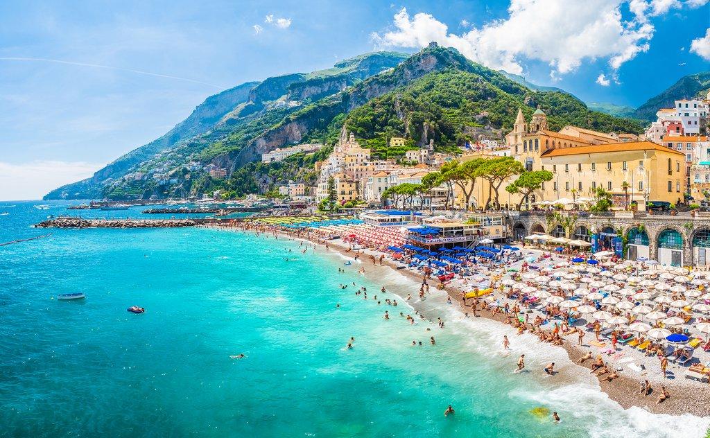 The town of Amalfi on Italy's Amalfi Coast