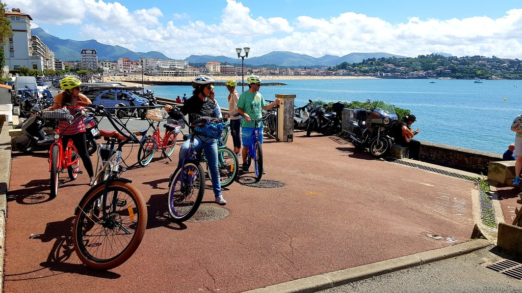 Biking along Basque coast