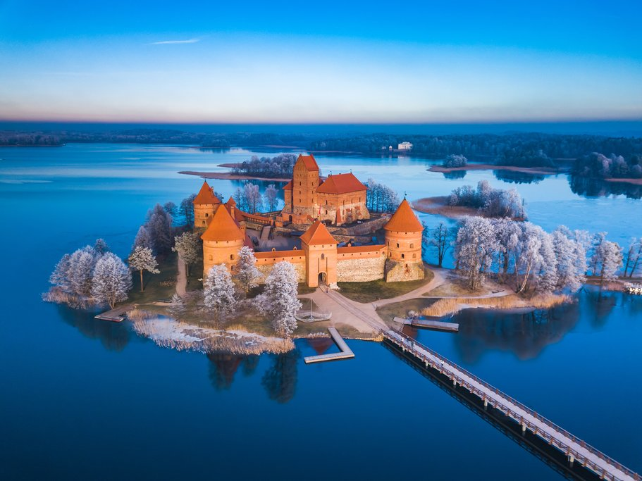Trakai Castle in the winter