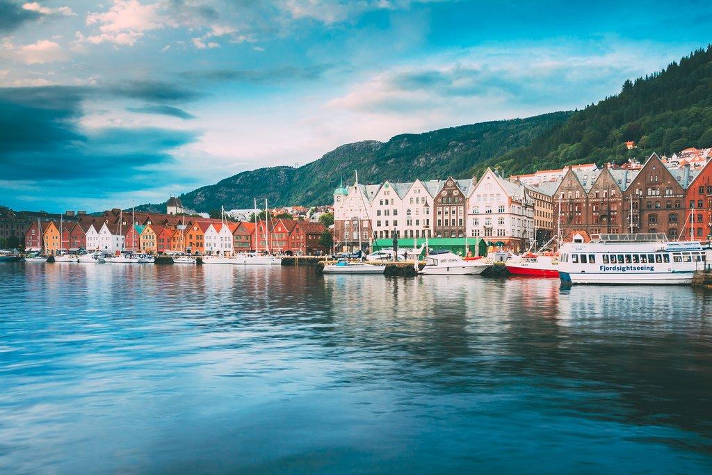 The Harbor of Bergen, Norway