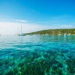 The crystalline waters of the quiet Blue Lagoon of Drvenik Veli