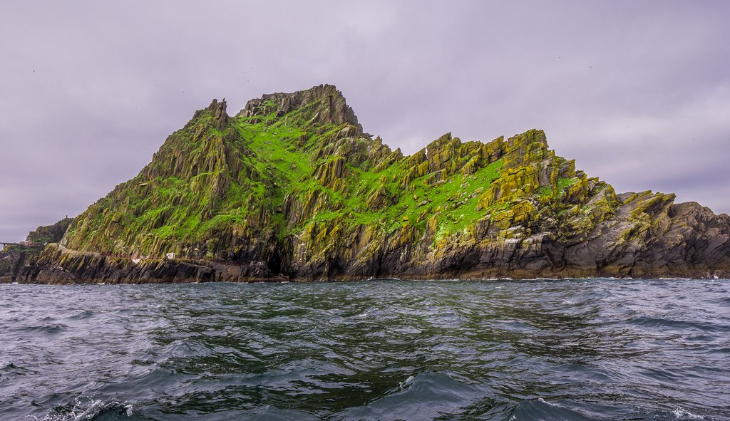 Dramatic landscape of Skellig Island
