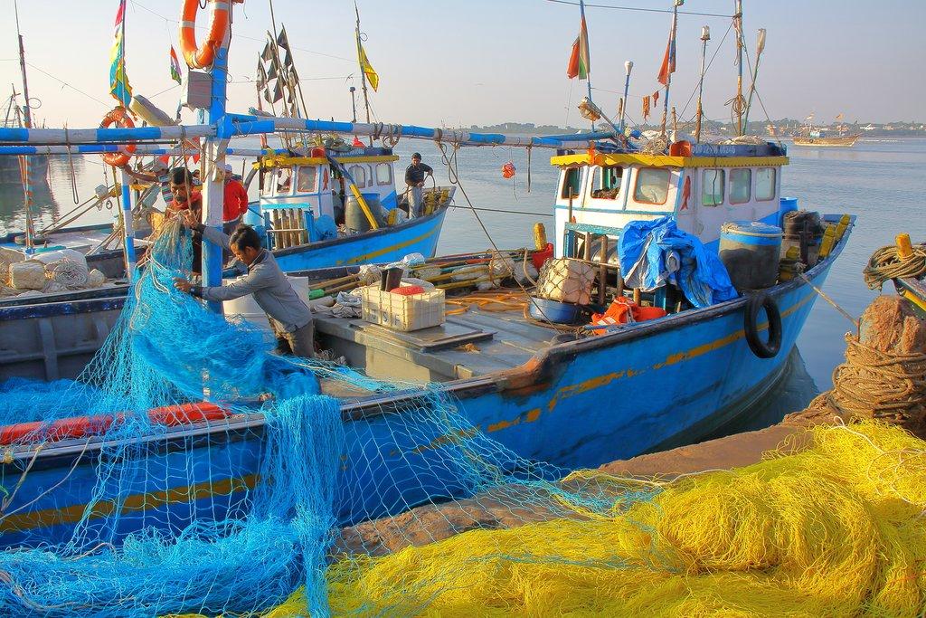 Fishing boats in Diu