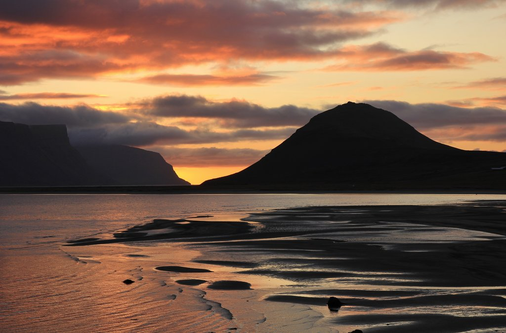 A sunset in the Westfjords