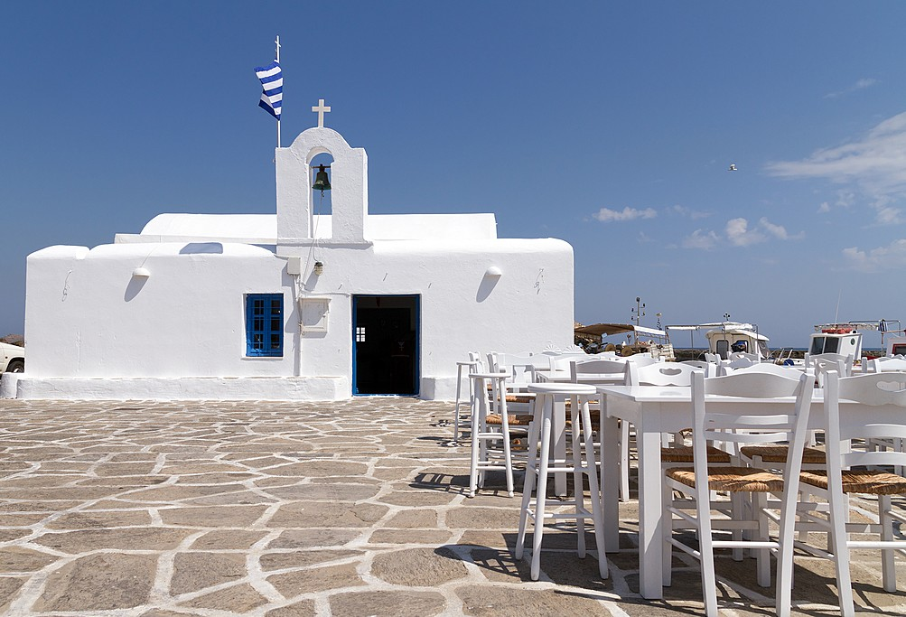 Fewer tourists in Folegandros