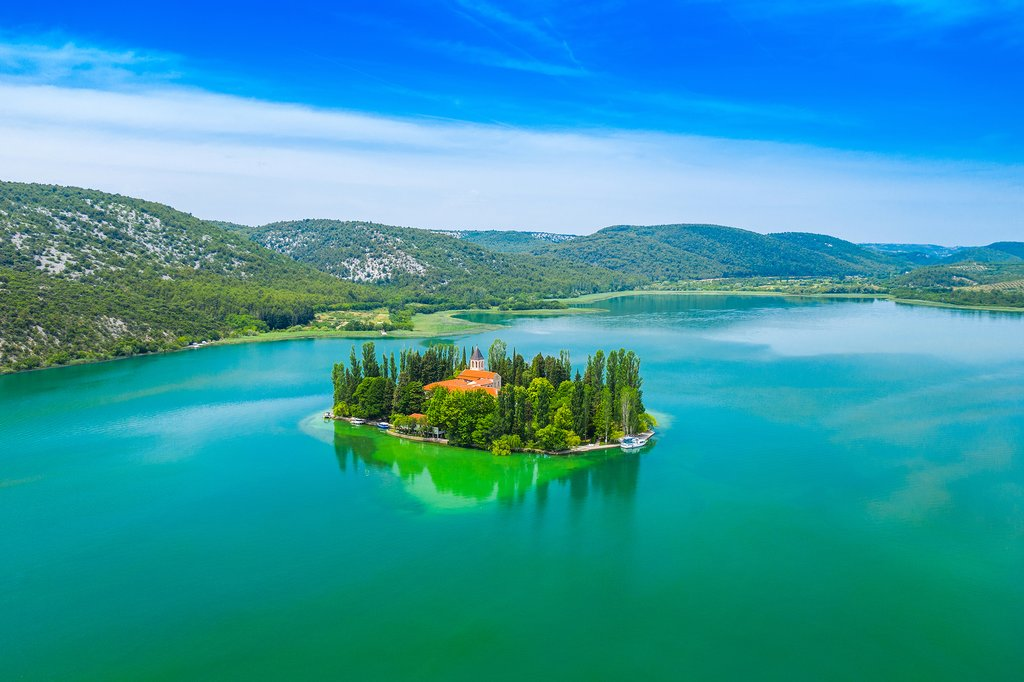 Krka National Park's Visovac island and monastery