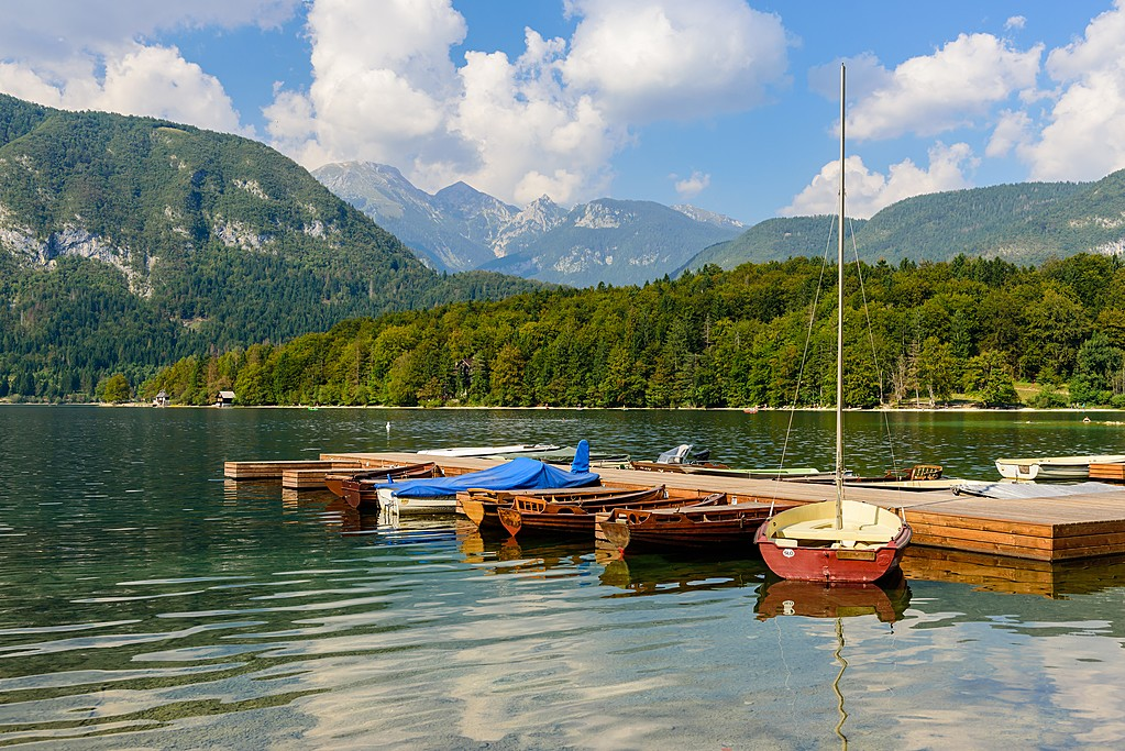 Rent a rowboat in Lake Bohinj, or simply jump in