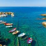 Colorful fishing boats in Riomaggiore