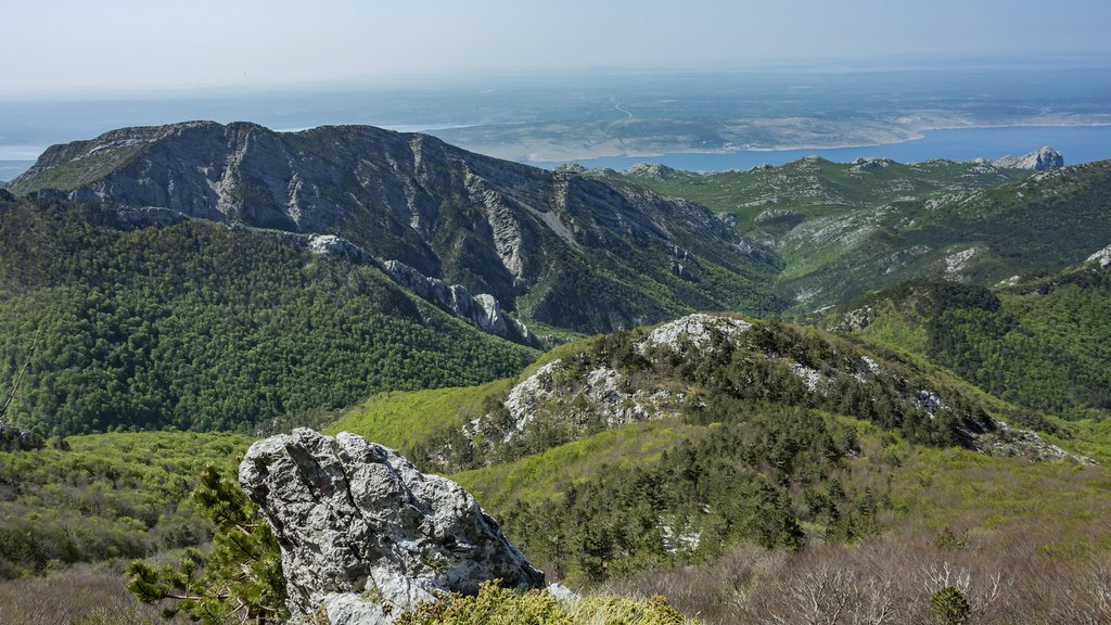 Peaks of rocky hills in Paklenica National Park