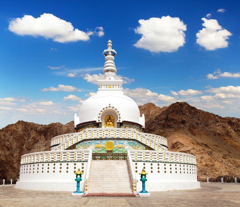 The Shanti Stupa was built to promote world peace