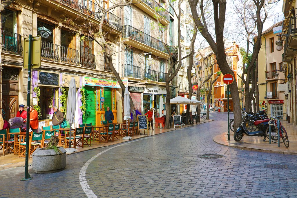 Colorful Streets of Valencia