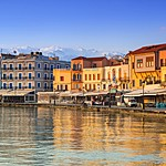 Venetian houses along the waterfront