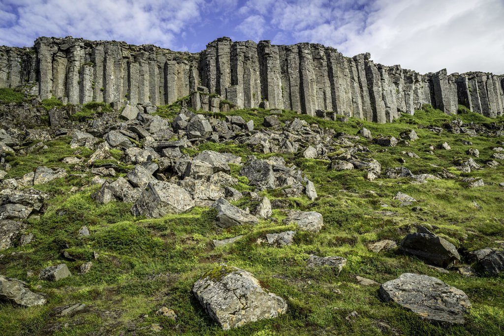 Stop at these basalt columns in Western Iceland