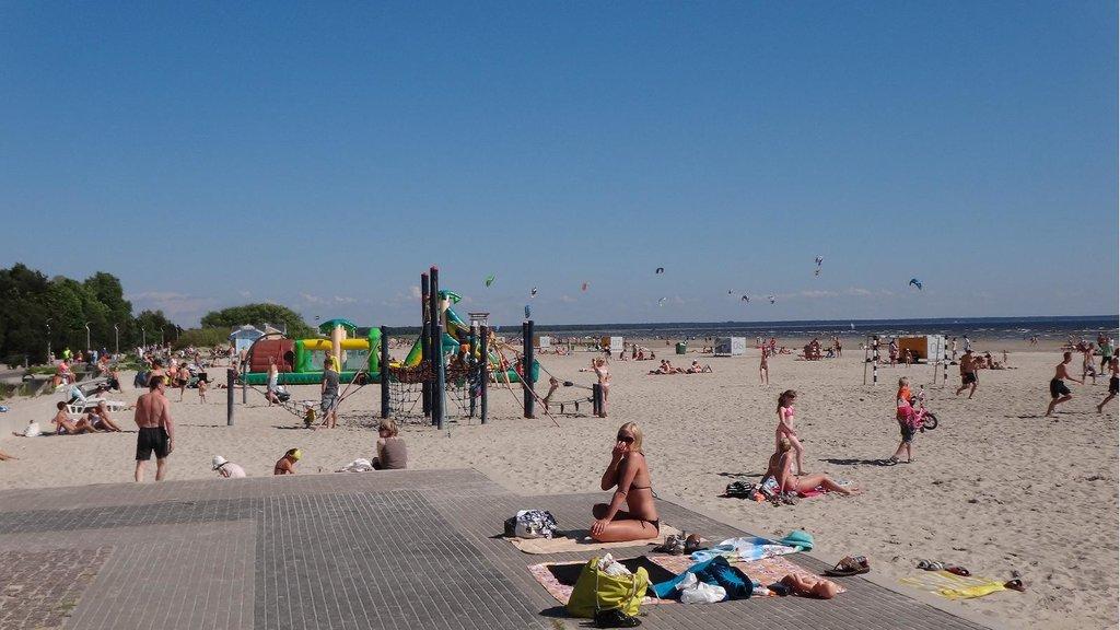 Sunny Parnu beach