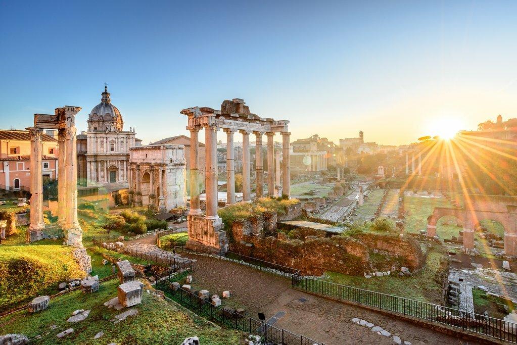 Sunlight Streaming into the Roman Forum