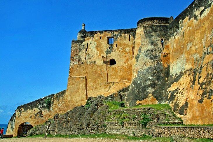 Historical Mombasa Fort Jesus.