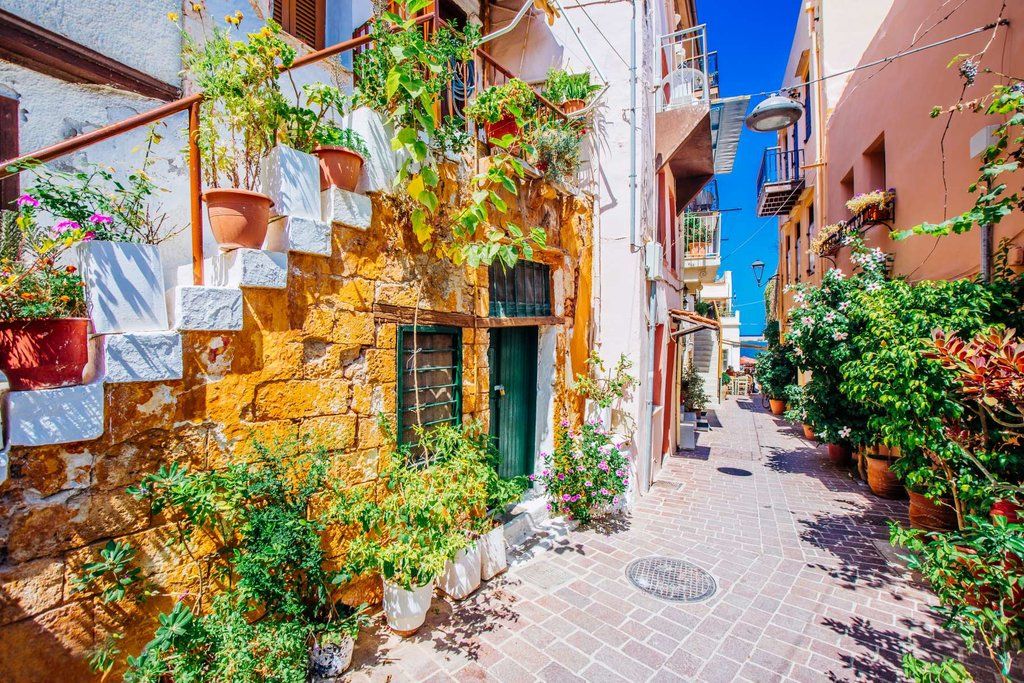 Houses in Old town of Chania