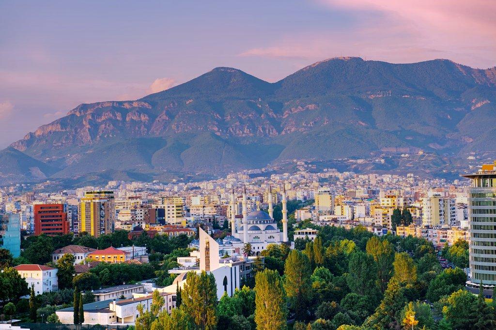 Tirana at Dusk