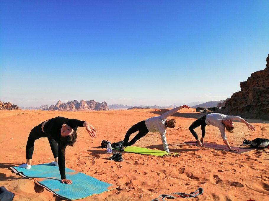 Morning Yoga in Wadi Rum