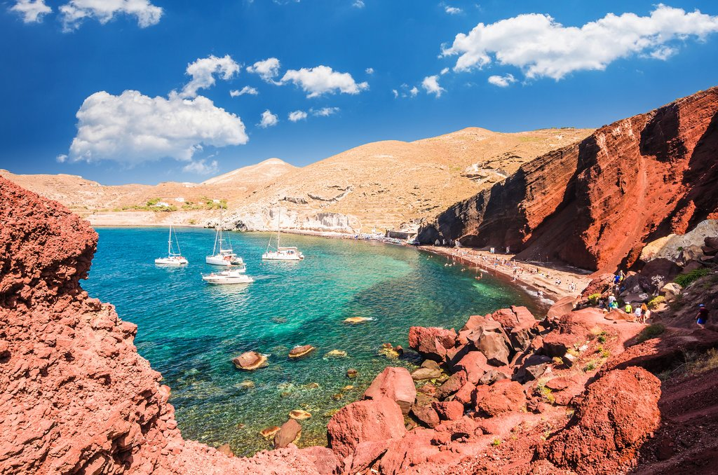 Santorini's Red Beach.