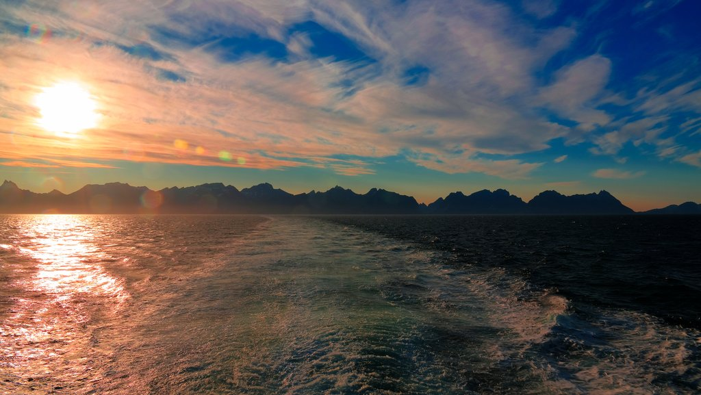 Sunset off the Ferry from Bodø
