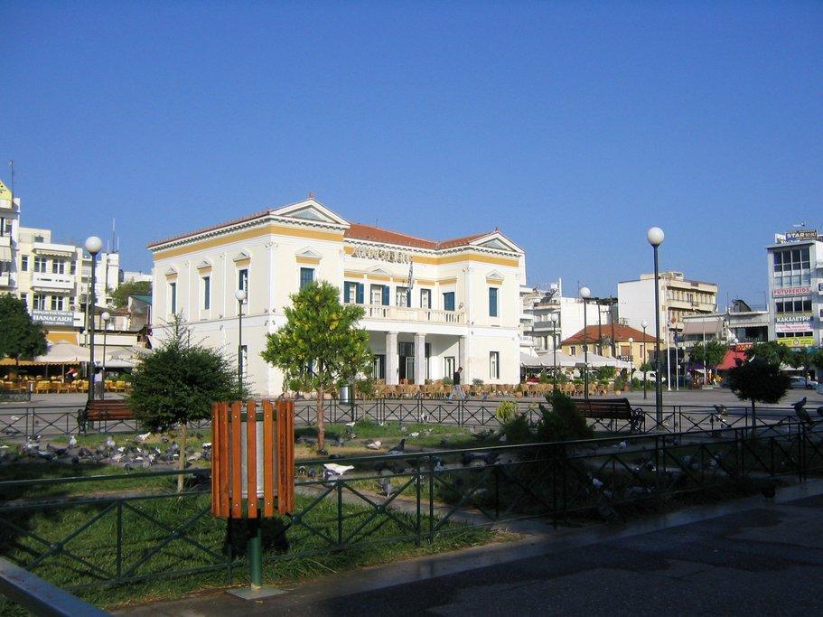 The city center of modern Sparta. (Photo courtesy of GoodFreePhotos.com)