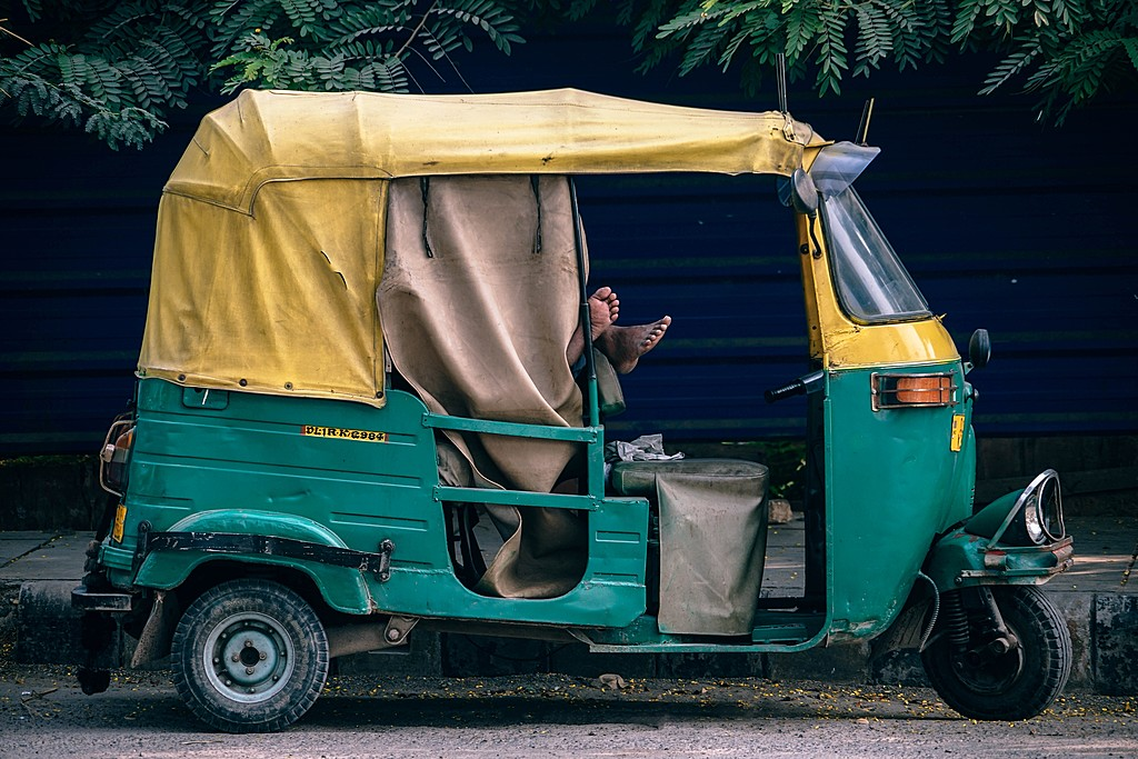 An Autorickshaw - this is how a local travel