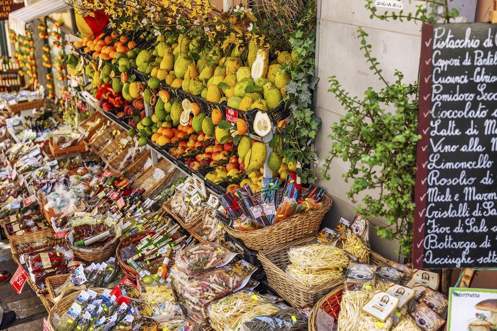 A local market in Taormina