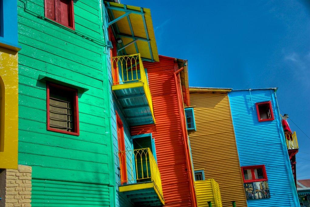 Colorful buildings in La Boca, Buenos Aires