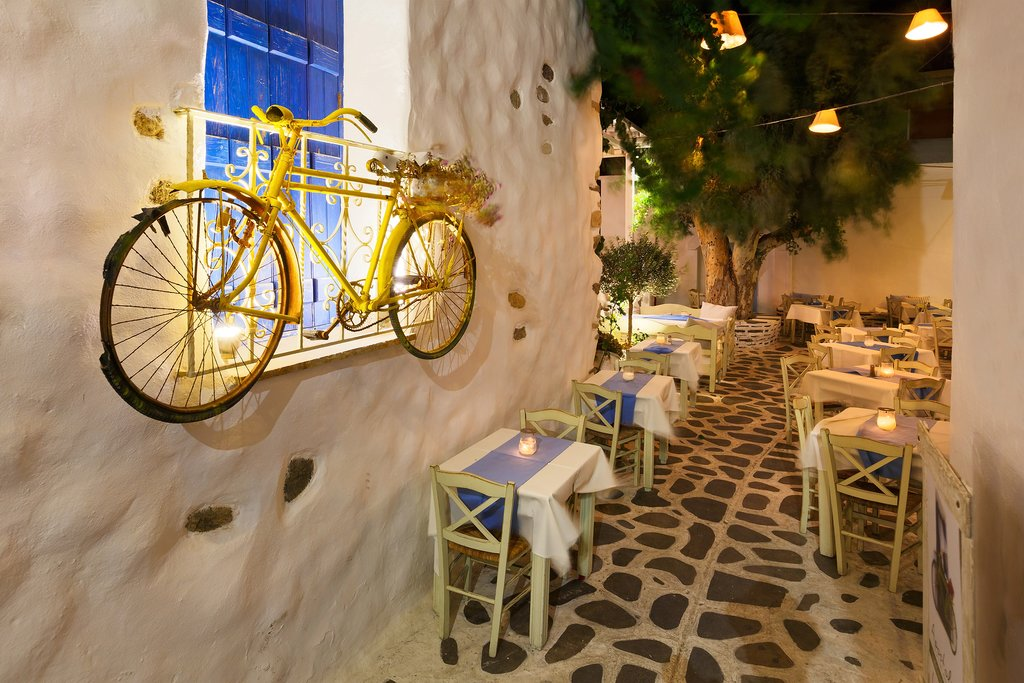 Old Town in Naxos, Greece