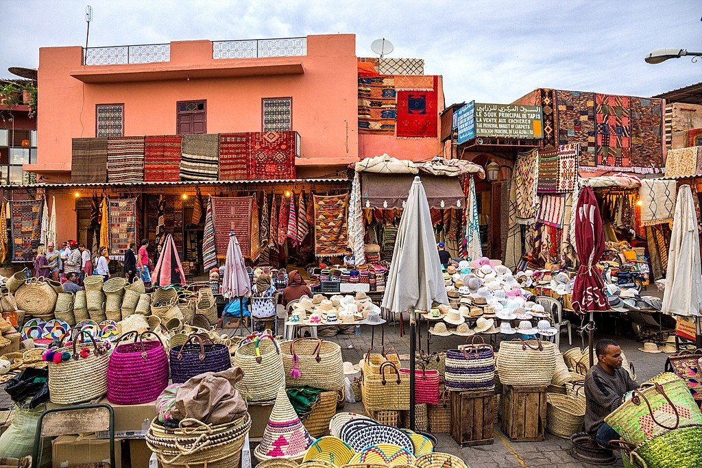 Textile markets in the souks