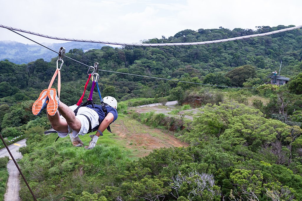 Zip-lining in Monteverde