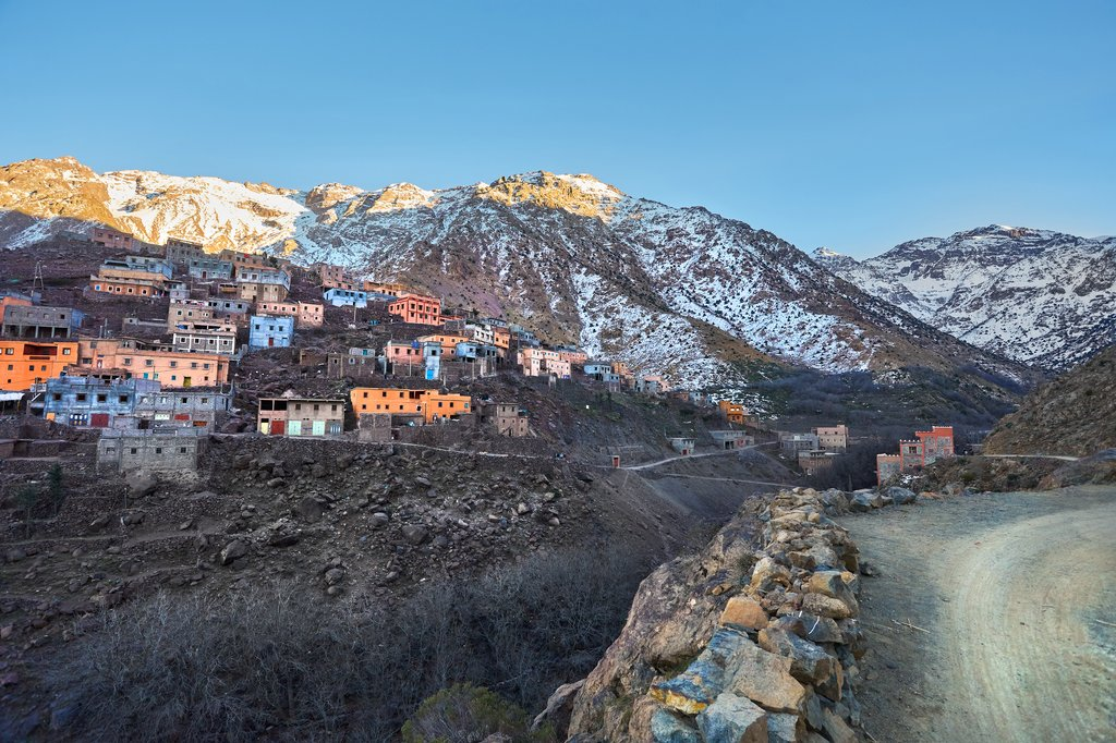 Aroumd, a small Berber village in the Ait Mizane Valley