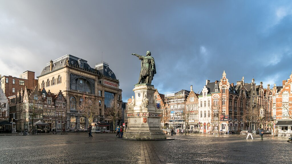 The market square in Ghent