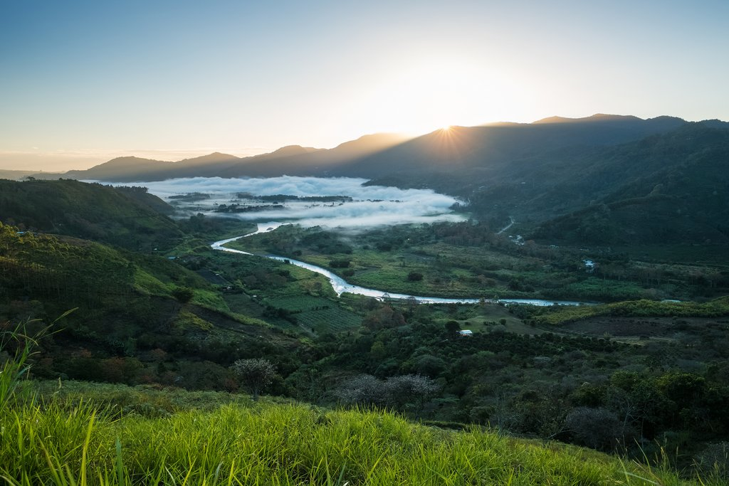 Orosi Valley at sunrise