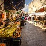 A souk in Fes