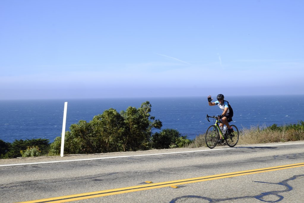 Enjoy stunning views as you cycle the Pacific Coast Highway