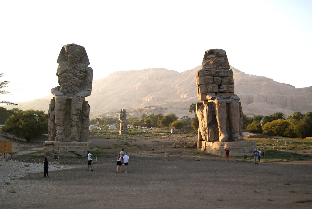 The incredible Colossi of Memnon in the Valley of the Kings