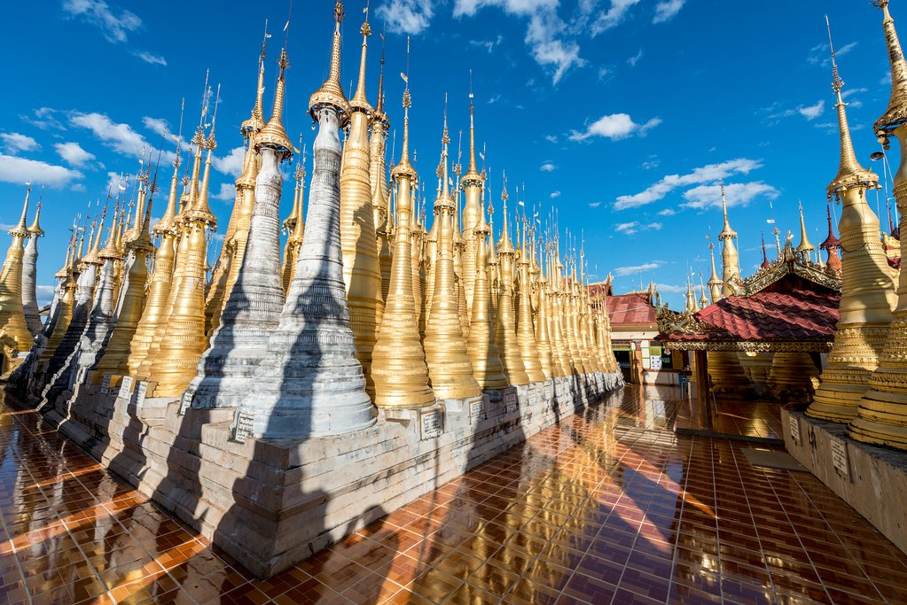 Indein Pagoda at Inle Lake